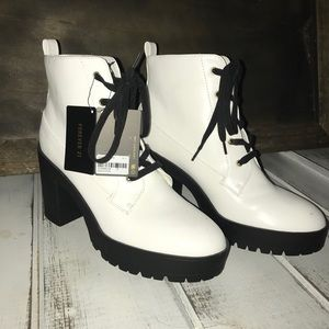 Forever 21 Shoes - White Booties